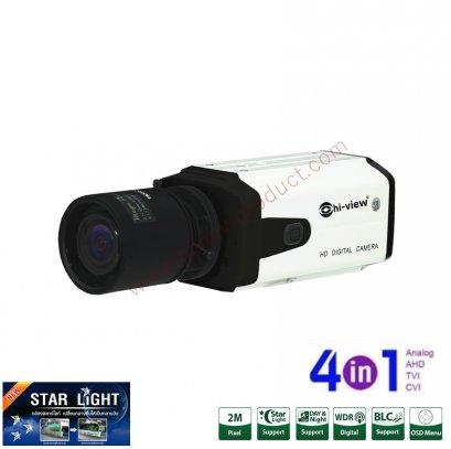 HA-304S20ST กล้องวงจรปิดไฮวิว 2 ล้านพิกเซล ใช้งานภายนอกและภายใน (ภายนอกควรใส่ Housing) บันทึกภาพสีแม้แสงน้อย (Hiview Bullet Starlight Camera 2 MP 4 in 1)
