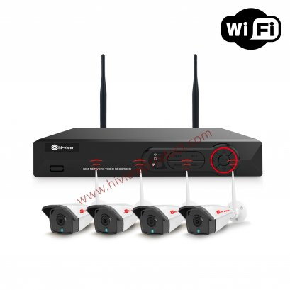 HW-3304KIT20-H7 Set 4 WIFI IP Kit  SET With Repeater (700M)