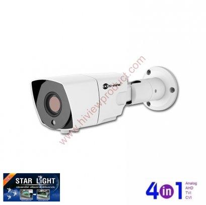 HA-304B20VST กล้องวงจรปิดไฮวิว 2 ล้านพิกเซล ใช้งานภายนอกและภายใน บันทึกภาพสีแม้แสงน้อย สามารถปรับระยะเลนส์ได้ 2.8-12 mm. (Hiview Bullet Starlight Vari focal Lens 2.8-12 mm. Camera  2 MP 4 in 1)