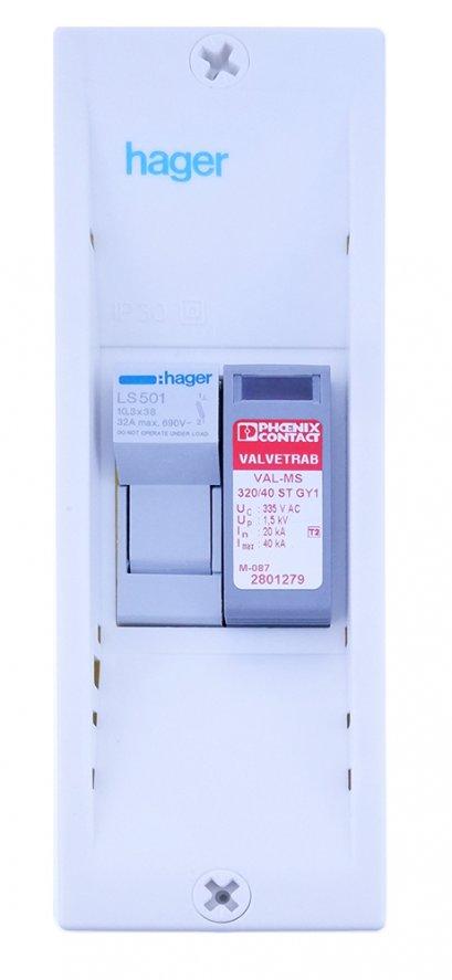 อุปกรณ์ป้องกันไฟกระโชก 1 เฟส (TN-C)