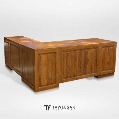 โต๊ะทำงานผู้บริหารไม้สักแท้ AT042