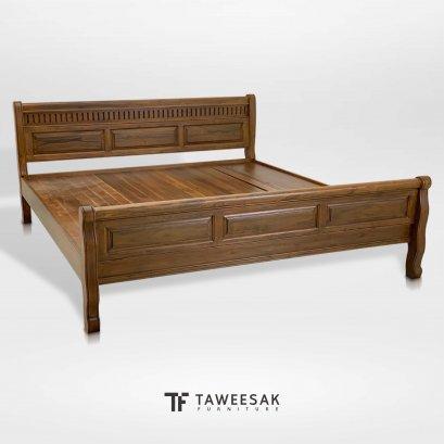 เตียงไม้สักแท้ BE133