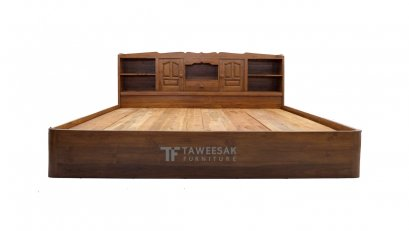 เตียงไม้สัก BE026