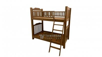 เตียงสองชั้นไม้สัก BE020