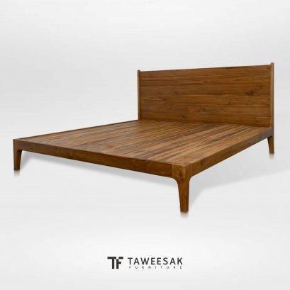เตียงไม้สักแท้ BE127