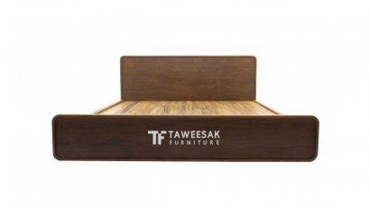 เตียงทรงมนไม้สัก BE032