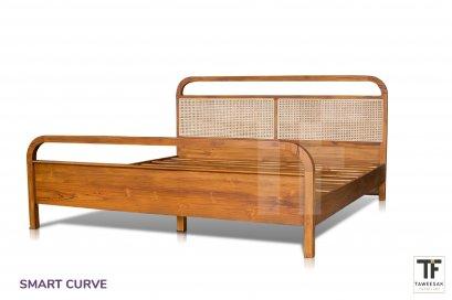 เตียงไม้สักรุ่น Smart Curve Bed BE081