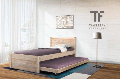เตียงไม้สัก BE080