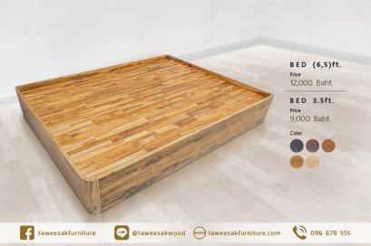 เตียงไม้สักไม่มีหัวเตียง BE029