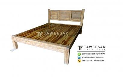 เตียงไม้สัก BE037