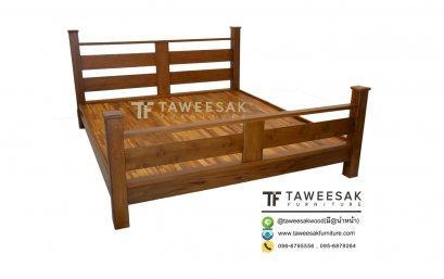 เตียงไม้สัก BE043