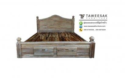 เตียงมีลิ้นชักไม้สัก BE059