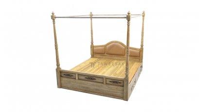 เตียงไม้สัก BE013