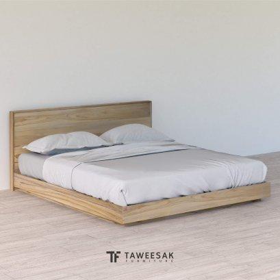 Kawa Bed เตียงไม้สักสไตล์ญี่ปุ่น BE124