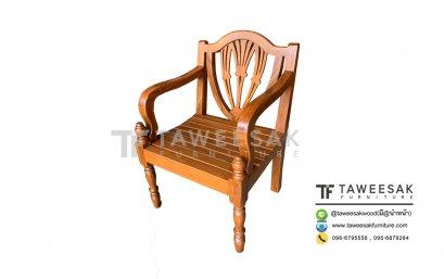 เก้าอี้ไม้สักกลึง CH055