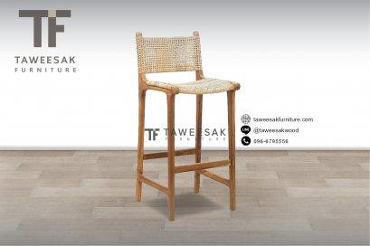 เก้าอี้บาร์ไม้สัก CH068