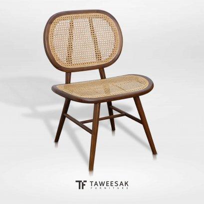 เก้าอี้ไม้สักผสมหวาย CH125