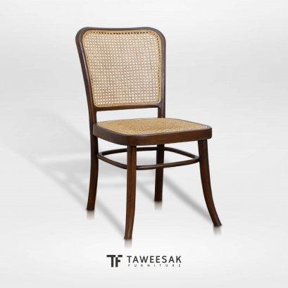เก้าอี้ไม้สักผสมหวาย CH085