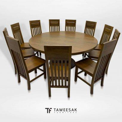 ชุดโต๊ะอาหารไม้สักแท้ DS078