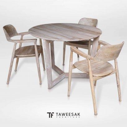 ชุดโต๊ะอาหารไม้สักแท้ DS079