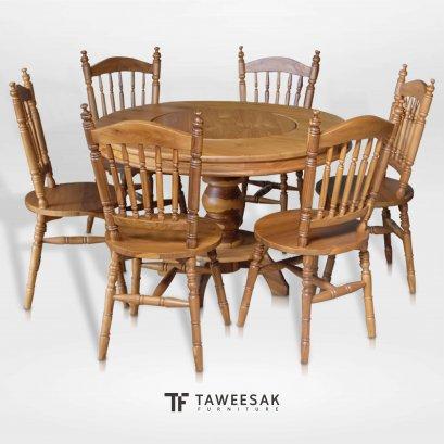 ชุดโต๊ะอาหารไม้สัก DS080