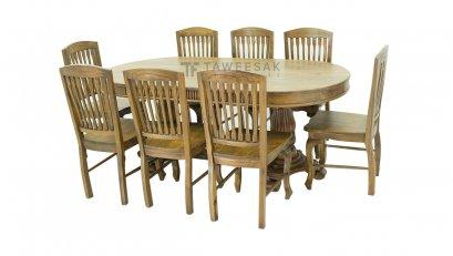 ชุดโต๊ะอาหารไม้สัก DS002