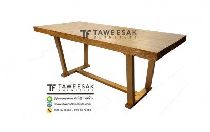 โต๊ะอาหารสแตนเลสสีทอง DS018