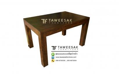โต๊ะอาหารขาตรงไม้สัก DS021
