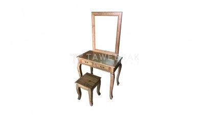 โต๊ะเครื่องแป้งสี่เหลี่ยมไม้สัก DT003