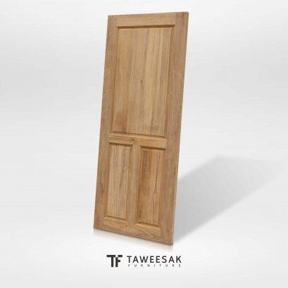 ประตูไม้สักแท้ DD015