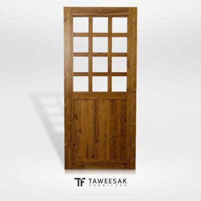 ประตูไม้สักแท้ DD017