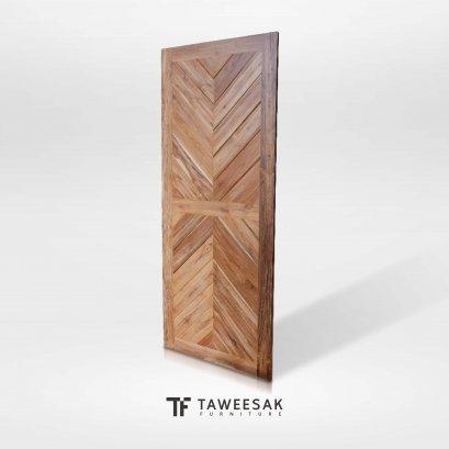 ประตูไม้สักแท้ DD018