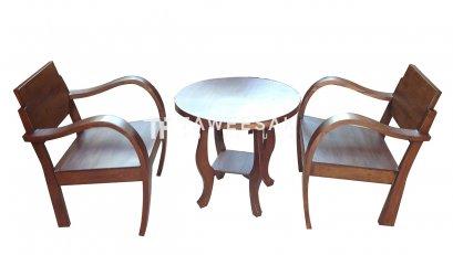 ชุดโต๊ะน้ำชาไม้สัก TS001