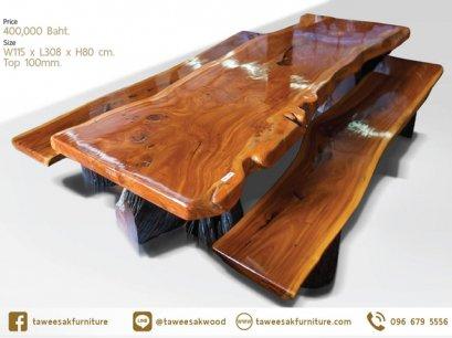 โต๊ะไม้ประดู่แผ่นเดียว TT04