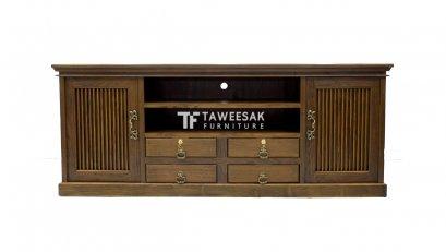 ตู้ไซด์บอร์ดวางทีวีไม้สัก TV002
