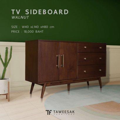 ชั้นวางทีวีไม้สัก TV053