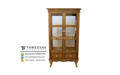 ตู้โชว์กระจกไม้สัก SC031-2