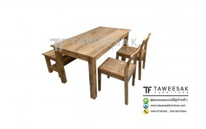 ชุดโต๊ะญี่ปุ่นไม้สัก DS032