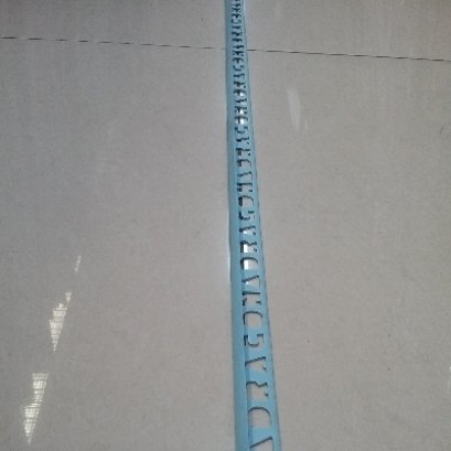 คิ้ว PVC D30/2M สีฟ้า
