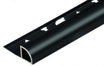 CABL122040 คิ้วอลูมิเนียมโค้งไฮกรอส สีดำ 12 mmx2 m.
