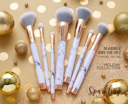 Sparkling Marble Brush Set