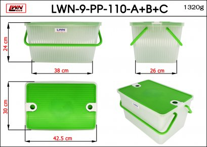 Plastic box #LWN8002