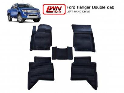 ผ้ายางปูพื้น Ford Ranger 4 ประตู (พวงมาลัยซ้าย)