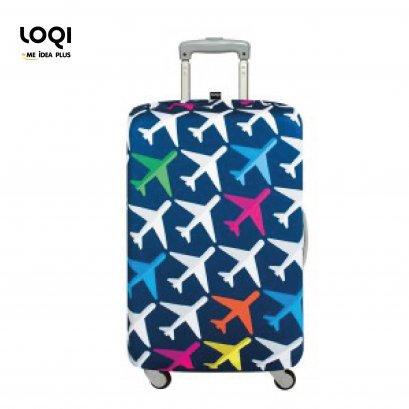 ผ้าคลุมกระเป๋าเดินทางLOQI ลาย Airport Airplane