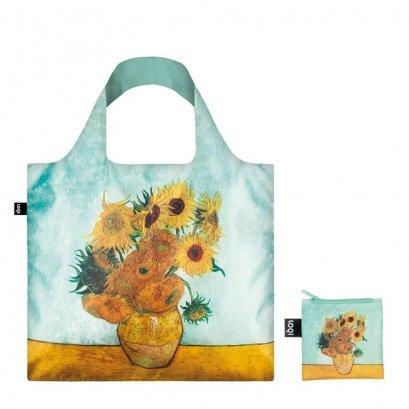 กระเป๋าผ้าแฟชั่นแบรนด์LOQI รุ่นVINCENT VAN GOGH Vase with Sunflowers, 1888 Bag