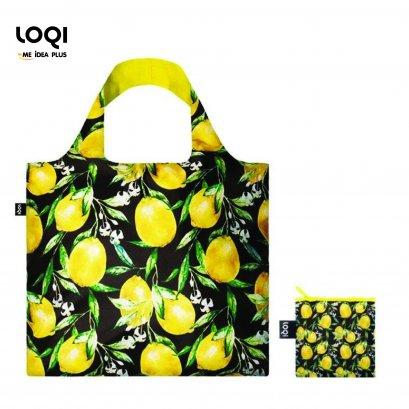 กระเป๋าผ้าแฟชั่นแบรนด์LOQI รุ่น Juicy Lemons ใบใหญ่1ใบ+ใบเล็ก1ใบ