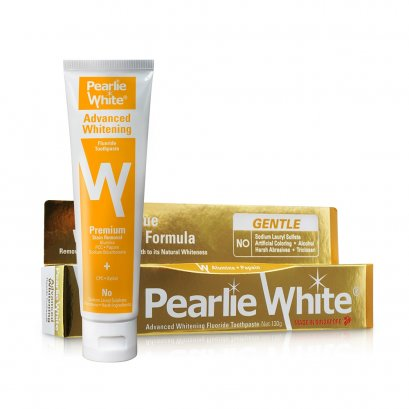 Pearlie White Advanced Whitening Fluoride Toothpaste - 130gm