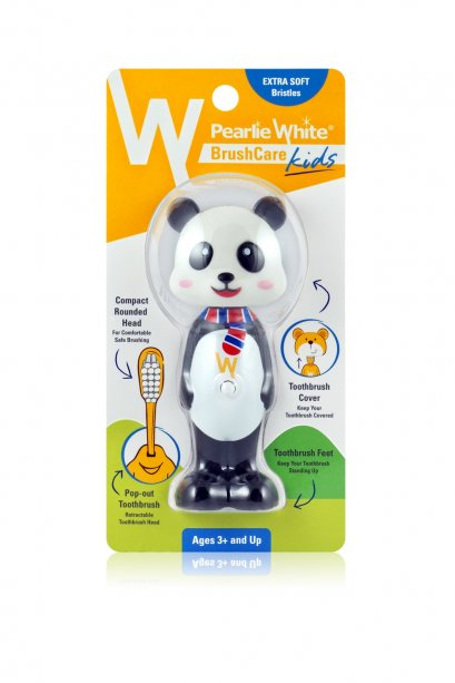 Pearlie White BrushCare Kids Pop-Up Extra Soft Toothbrush - Panda