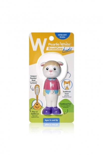 Pearlie White BrushCare Kids Pop-Up Extra Soft Toothbrush - Sheep