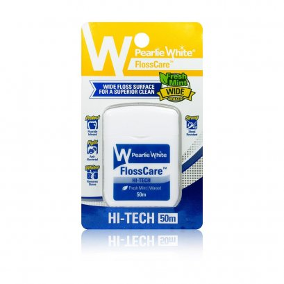 Pearlie White FlossCare Hi-Tech Fresh Mint Waxed – 50m